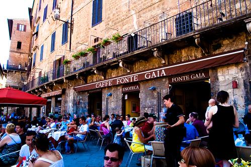 Caffe Fonte Gaia in Siena