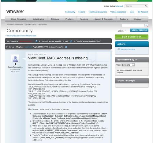 VMware copyright