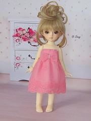 Sweet pink dress for yosd, volks (BeautifulPinPin) Tags: pink wedding outfit doll dolls dress cloth volks yosd kakeru beautifulpinpin bjdcloth