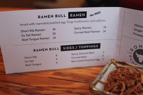 Ramen Bull Menu