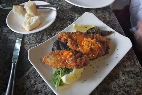 fried oysters with tabasco butter