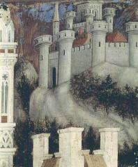Pisanello - The medieval city (~1437) (petrus.agricola) Tags: church saint george dragon princess verona antonio anastasia sant fresco trabzon pisanello trebizond