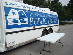 HMCPL Bookmobile at the Education Celebration (Huntsville Madison County Public Library) Tags: school kids education libraries families outreach bookmobile 2011 baileycove hmcpl grissomhighschool