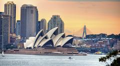 Sydney Sunset (Louay Henry) Tags: city sunset sky water nikon sydney australia operahouse sydneyoperahouse d7000