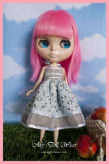 Blythe Outfit - Sweet Baby Blue Lace Dress