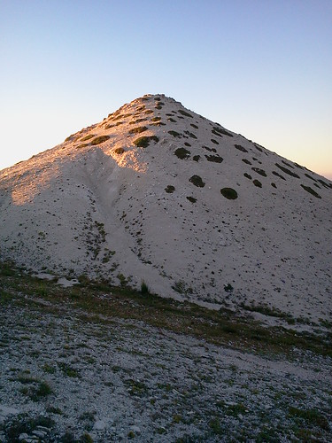 Western summit of Mount Brancastello
