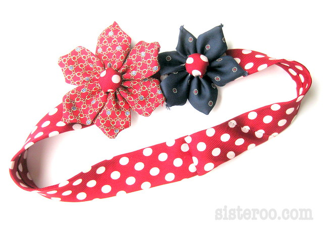 Necktie Flower Headband