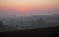 Kingscote Sunrise (Maggie's Camera) Tags: morning pink sky rural sunrise landscape dawn countryside cotswolds gloucestershire firstlight kingscote