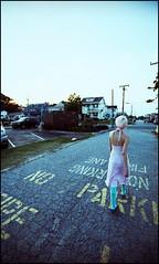 cracks (Djinn Photography) Tags: pink film girl hair xpro crossprocess ct precious ctp agfa dyed top20xpro precisa e6toc41