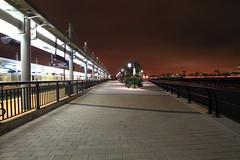 NJ Transit Lightrail Station Hoboken NJ (pmarella) Tags: night lights pmarella hudsonriver sigma1020mm riverviewpkproductions icoverthewaterfront myeyeshaveseenthis njtransitlightrailstationhobokennj