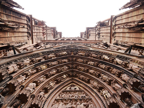 The entrance to Strasbourg Cathedral