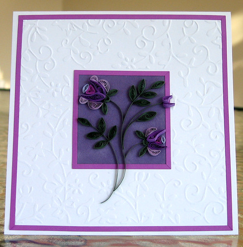 Quilled shades of lavender card