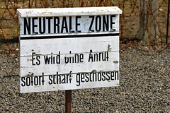 Neutral Zone Warning (Taylor Mc) Tags: camp berlin warning germany deutschland concentration brandenburg kz zone sachsenhausen neutral warnung oranienburg