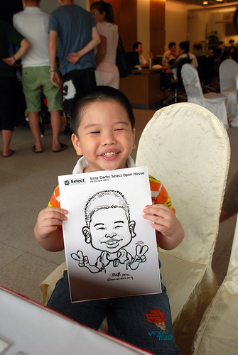Caricature live sketching for Sime Darby Select Open House Day 1 - 15