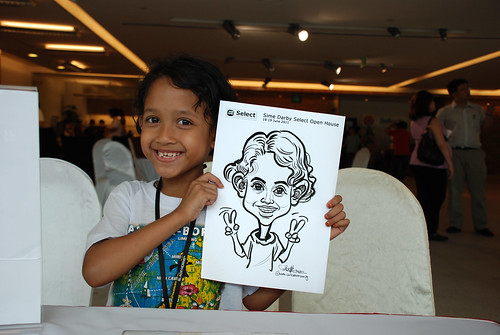 Caricature live sketching for Sime Darby Select Open House Day 2 - 18