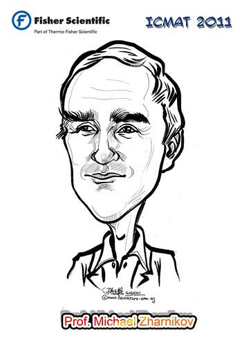 Caricature for Fisher Scientific - Prof. Michael Zharnikov