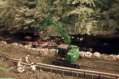 Backhoe Construction On The Iruma River (aeschylus18917) Tags: nature japan river landscape workers construction nikon scenery labor machinery  heavyequipment saitama nikkor backhoe 1870mm hanno f3545g saitamaken 1870  1870f3545g saitamaprefecture d700   nikond700 nikkor1870f3545g komariver danielruyle irumariver aeschylus18917 danruyle druyle    hann hannshi nikkor1870f3545gdx