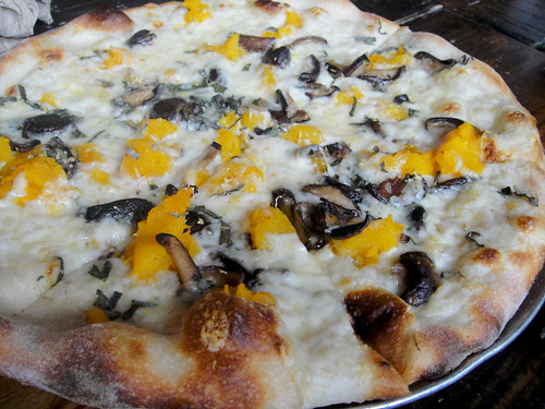 Butternut Squash and Mushroom Pizza