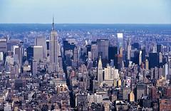 Lost View #3 (Rob de Hero) Tags: nyc newyorkcity usa oktober ny newyork skyline analog october view manhattan worldtradecenter towers twin slide dia twintowers empirestatebuilding wtc analogue