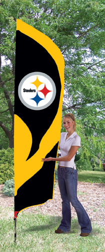 Pittsburgh Steelers Tall Feather Flag