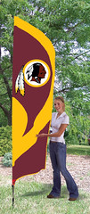 Washington Redskins Tall Feather Flag
