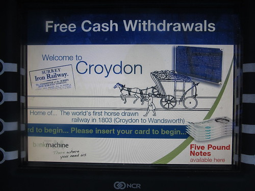 Surrey Iron Railway on East Croydon cash machine