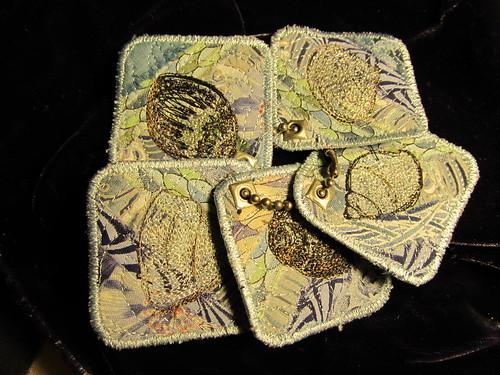 five small shells