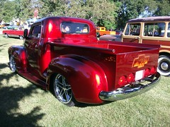 1950 Chevrolet 3100 (dave_7) Tags: red classic chevrolet truck flames rear custom 1950 3100 advanceddesign