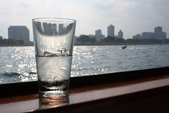 Water (Flint Foto Factory) Tags: city cruise light summer urban distortion chicago reflection beach water glass skyline boat weekend north july lakemichigan shore refraction condensation jetski lincolnpark 2011 personalwatercraft feelsgood