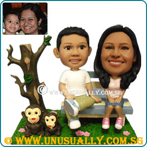 Personalized 3D Mother & Son Lovely Figurines