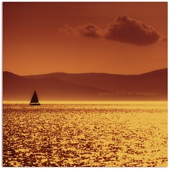 ~~~A~~~~~~~ (Samantha Nicol Art Photography) Tags: water square scotland boat silouette sail samantha scape toned troon nicol