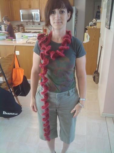 Corkscrew scarf
