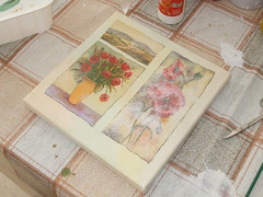 Canvas - decoupage lesson