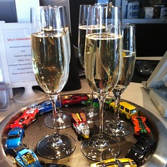 "Free ""Carmageddon"" Champagne at the salon"
