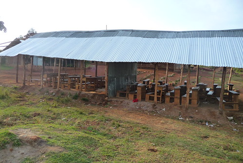 Although this was not the norm, we did encounter a school the classrooms of which had no walls!