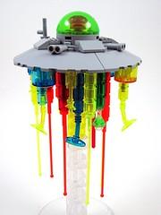 Jellyfish Mothership (Moctagon Jones) Tags: art jellyfish lego space flyingsaucer mothership moc microspace microscale