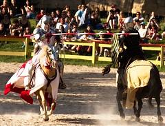 Joust to the Death (NinjaWeNinja) Tags: horses horse festival canon colorado denver knights armor 7d knight joust 70200 renaissance jousting larkspur