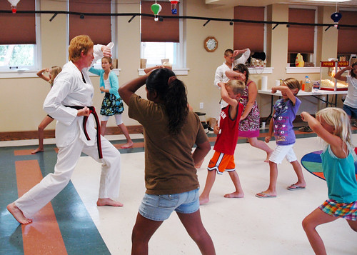One World, Many Stories :: Week 4 :: Tae Kwon Do Demonstration :: form practice 1