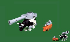 Farm Force (Karf Oohlu) Tags: lego farmanimals legopig moc legoanimals legocow armedanimals armouredfightinganimals
