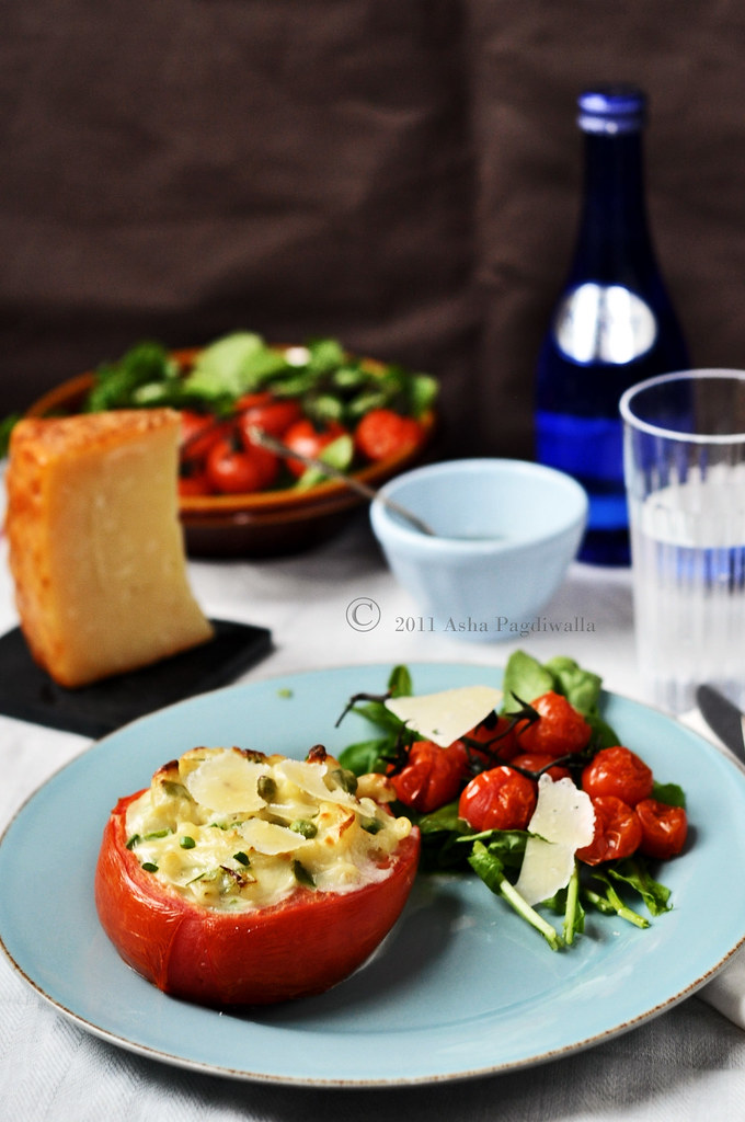 Mac & cheese Tomato Bowls1