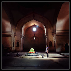 ancient light...from the tombs (PNike (Prashanth Naik)) Tags: light red india green architecture buildings daylight interestingness interesting ancient nikon asia interiors king day im historic indoors mausoleum hyderabad andhra tombs qutub lightrays nizam qutb shahi quli qutbshahitombs d7000 pnike