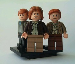 Percy, Bill and Charlie (L to R) (burakki62) Tags: bill lego harry potter charlie percy weasley