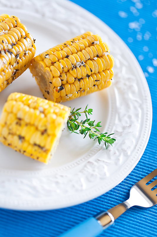 Baked Corn with Herbs and Garlic