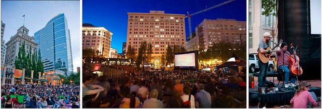 Flicks on the Bricks - Free Movies in Pioneer Square, Portland