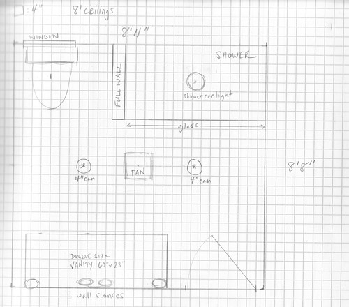 master bath lighting plan -- does this work? - Bathrooms Forum ...