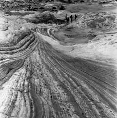 La vague dans une mer de pierre (Tonton Dave) Tags: arizona usa southwest monochrome rock landscape utah sandstone hasselblad paysage roches grandstaircaseescalante vermillioncliffs whitepocket