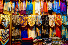 Colors of the East (Theophilos) Tags: colors market istanbul fabric shawl constantinople