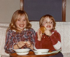 Me and my brother enjoying supper