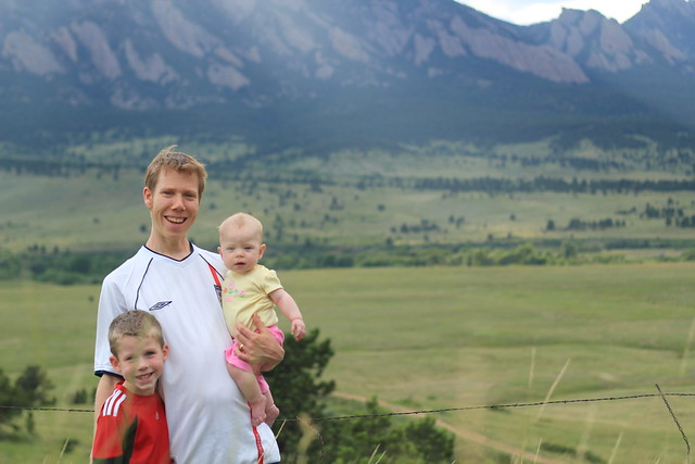 Mike and the kids at Eldorado Mountain