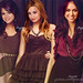 Pretty Little Liars ( ( Five ) ) { Selena Gomez , Demi Lovato , Miley Cyrus }
